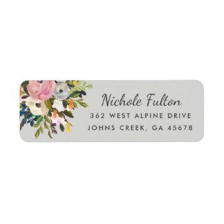 Botanical Bliss Custom Colour Return Address Return Address Label