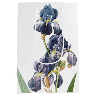 Botanical Blue Iris Flowers Floral Redoute Bag