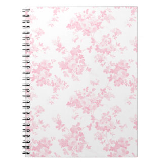 Botanical blush pink vintage elegant floral spiral notebook