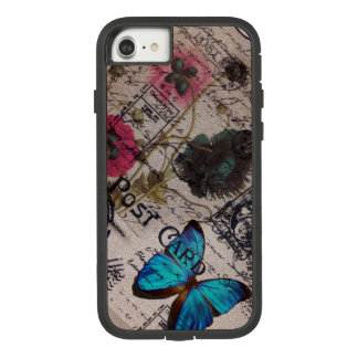botanical butterfly burlap french country Case-Mate tough extreme iPhone 8/7 case