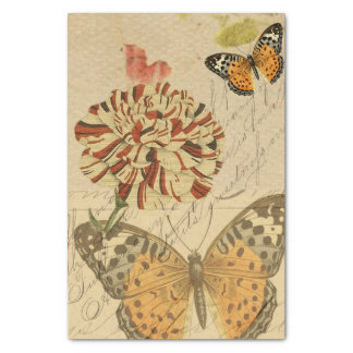 Botanical Butterfly Collage Tissue Paper