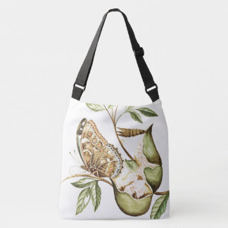 Botanical Butterfly Pomegranate Fruit Tote Bag