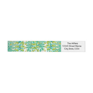 Botanical Charm Wraparound Return Address Label