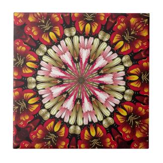 Botanical Dreams Mandala Small Square Tile