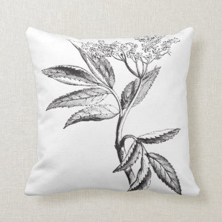botanical floral leaf print cushion