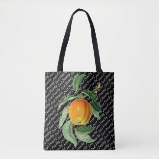 Botanical Fruit Peach Just Peachy Tote Bag