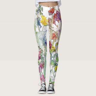 Botanical Garden Flowers All Over Print Leggings