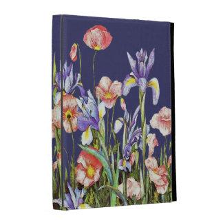 Botanical Garden Flowers Arstry Poppies & Iris iPad Cases