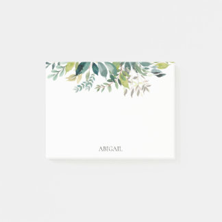 Botanical Garden Greenery Personalized Post-it Notes