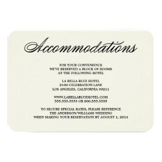 "Botanical Glamour | Accommodation Enclosure Card 3.5"" X 5"" Invitation Card"