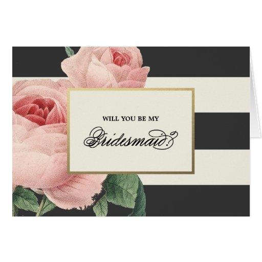Botanical Glamour | Bridesmaid Card