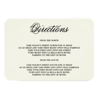 Botanical Glamour | Direction Enclosure Card 9 Cm X 13 Cm Invitation Card
