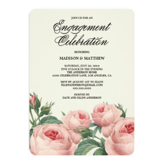 "Botanical Glamour | Engagement Party Invitation 5"" X 7"" Invitation Card"