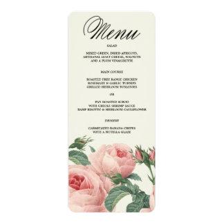Botanical Glamour | Menu 10 Cm X 24 Cm Invitation Card