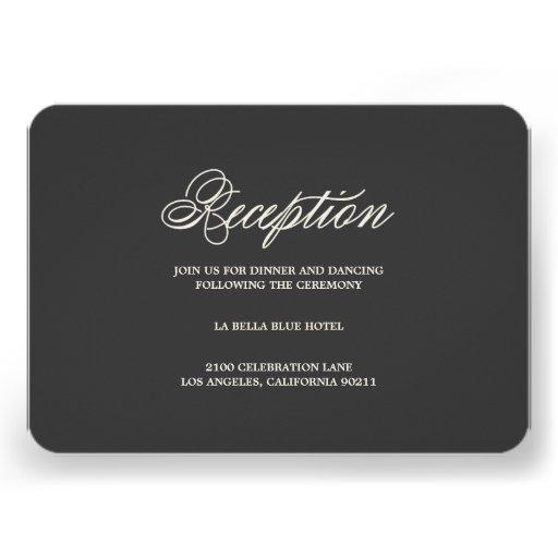 Botanical Glamour | Reception Enclosure Card