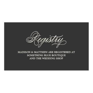 Botanical Glamour   Registry Card Pack Of Standard Business Cards