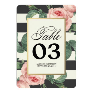 Botanical Glamour | Table Numbers 13 Cm X 18 Cm Invitation Card