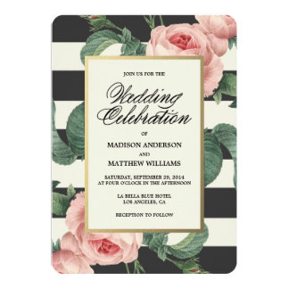 Botanical Glamour | Wedding Invitation