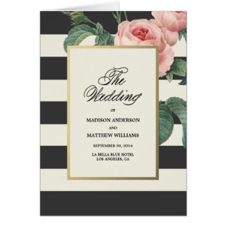 Botanical Glamour | Wedding Program Card