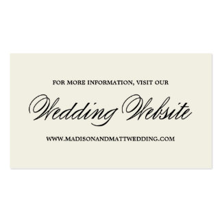 Botanical Glamour | Wedding Website Card Pack Of Standard Business Cards