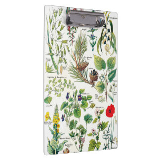Botanical Illustrations - Larousse Plants Clipboard