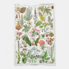 Botanical Illustrations - Larousse Plants Tea Towel