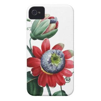 BOTANICAL iPhone 4/4S case Red Passiflora