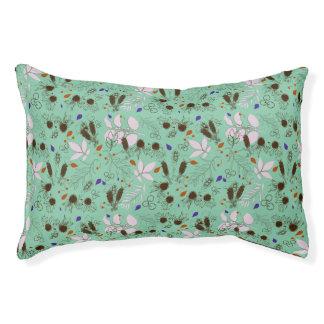 botanical mint pet bed