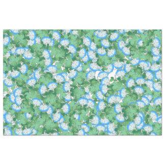 Botanical Morning Glory Flower Floral Tissue Paper