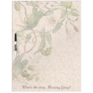 Botanical Morning Glory Flowers Dry Erase Board
