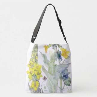 Botanical Mullein Monkey Flowers Tote Bag