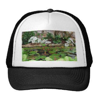 Botanical Nature Lily Pond Landscape Cap
