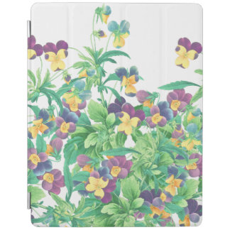 Botanical Pansy Flowers Floral Garden iPad Cover