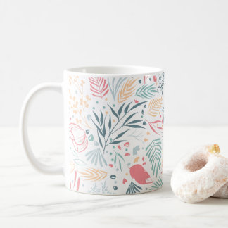 Botanical pattern coffee mug