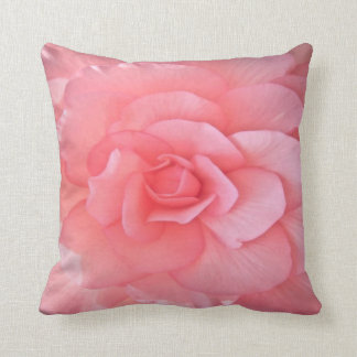 botanical- pink camellia throw cushion