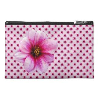 Botanical Pink Dahlia Flower Travel Accessory Bag