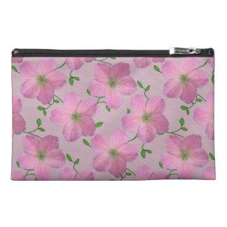 Botanical Pink Geranium Flower on any Colour Travel Accessory Bag