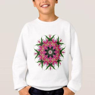 Botanical Pink Lily Floral Mandala Bouquet Sweatshirt
