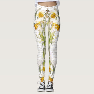 Botanical Poppy Flowers All Over Print Leggings
