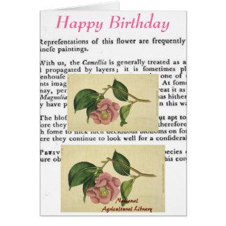Botanical Print Birthday Card
