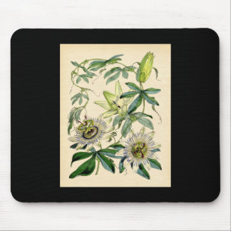 Botanical Print - Passion Flower (Passiflora) Mouse Pad