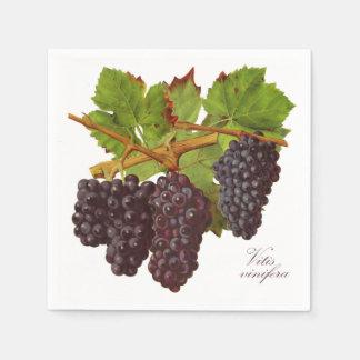 Botanical Purple Grapes Paper Napkins (Set of 50) Paper Napkin