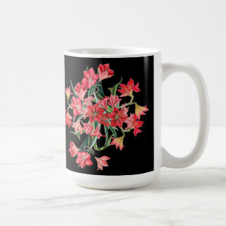 Botanical Red Amarylis Flowers Floral Mug