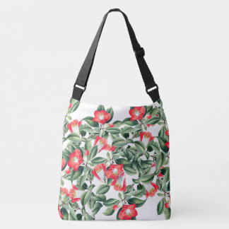 Botanical Red Camillia Flowers Tote Bag