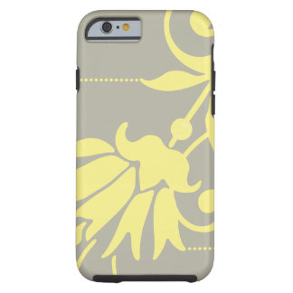 Botanical Silver/Butter - Mate Case Tough iPhone 6 Case