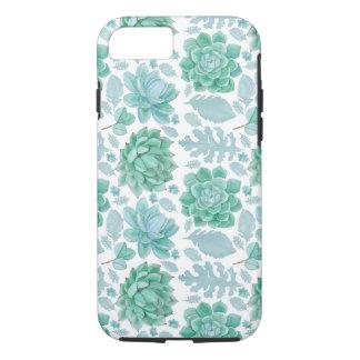 Botanical Succulent pattern, modern nature iPhone 8/7 Case