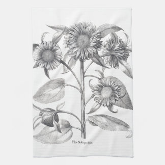 Botanical Sunflower Floral Flowers Kitchen Towels