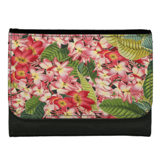 Botanical Tropical Plumeria Flowers Wallet