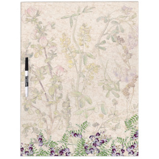 Botanical Vetch Licorice Flowers Dry Erase Board