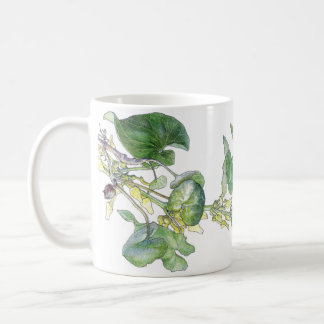 Botanical Vintage Birthwort Flowers Leaves Mug